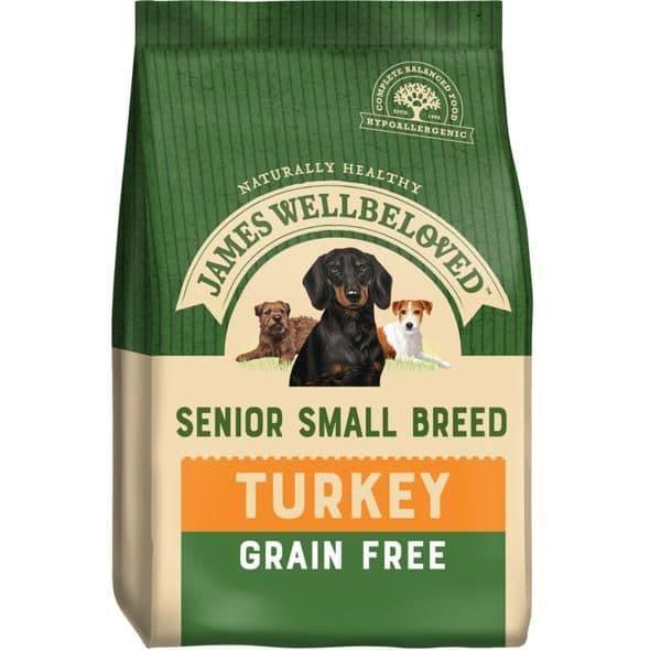 J/w senior small breed turkey grain free